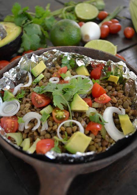 Cucina di Barbara food blog - blog di cucina ricette: Ricetta insalata di lenticchie con avocado, coriandolo e pomodori