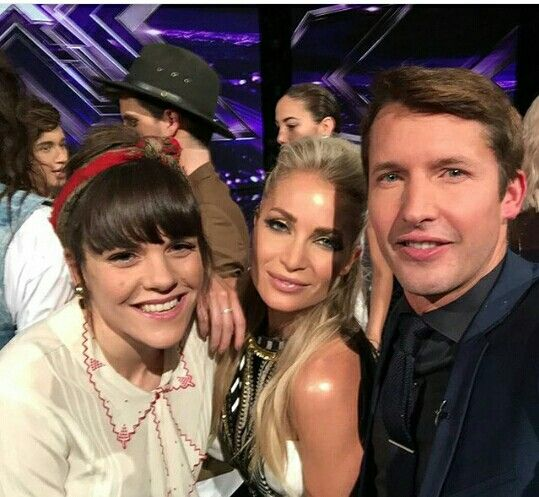 Xfactor Australia. James Blunt, Natalie Conway and Louise Adams
