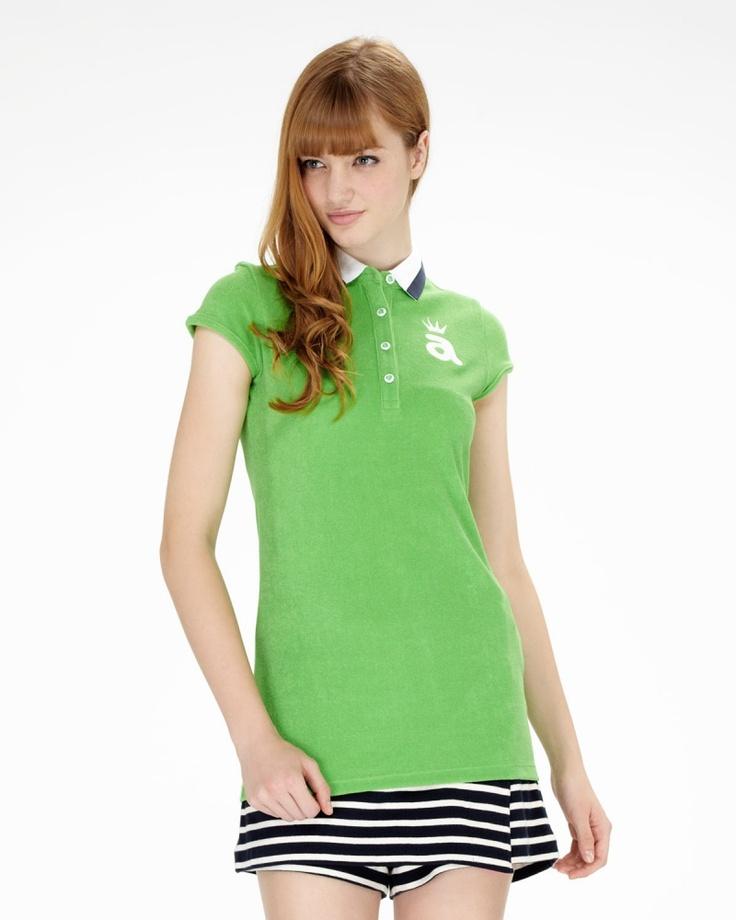 ARCHIVIO グリーン パイルポロシャツ - ファミリーセールなら、グラムール セールス