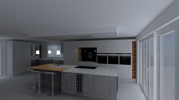 Final kitchen design in East Preston
