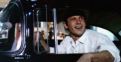 """Harrison Ford. American Graffiti. """" hey , you know a guy around here with a  Piss yellow Duce coupe,  supposed to be hot stuff"""" ... """" you mean John Milner ? Hey , nobody can beat him man! He's got the fastest ...I'am not nobody Dork! Right? ... right ... you see this Milner , tell him I'am looking for him , I'am going to blow his ass right off the road"""