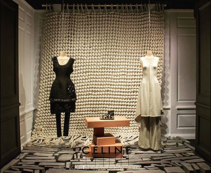 "SAKS FIFTH AVENUE, New York, ""Knitting is the new yoga"",  for CELINE, pinned by Ton van der Veer"