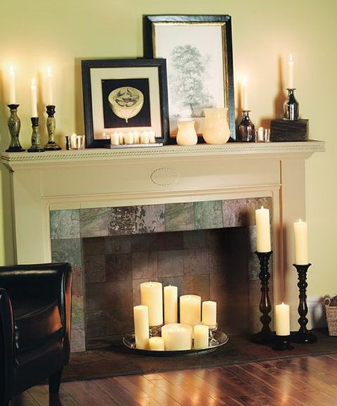 17 best ideas about candles in fireplace on pinterest - Chimeneas artificiales decorativas ...