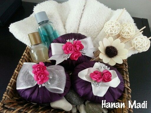 Elegant pieces of soap decorated by me  used as bathroom accessories and fragrance