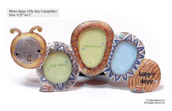 Frame The July caterpillar Photo frame made by NikaGalleryArt, $71.00