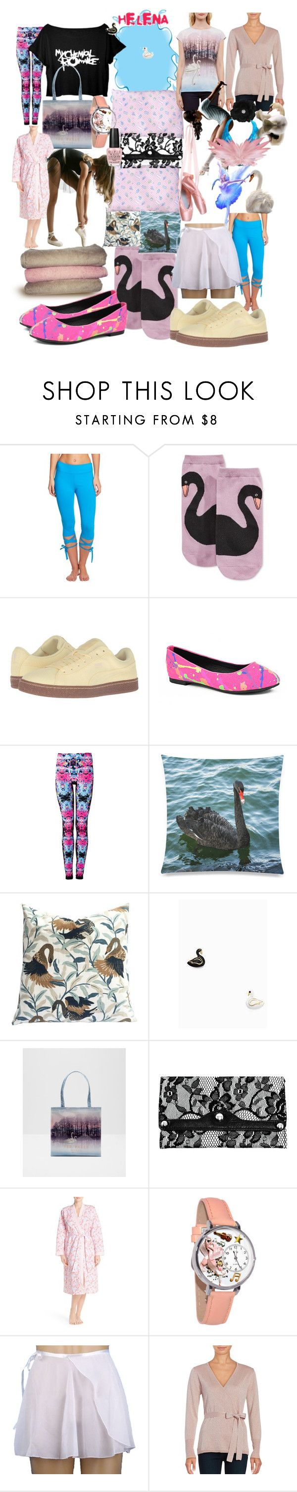 """Glide like that"" by lerp ❤ liked on Polyvore featuring Jala Clothing, Kate Spade, Puma, Black Swan, Ted Baker, Parinda, Carole Hochman, Whimsical Watches and Ivanka Trump"