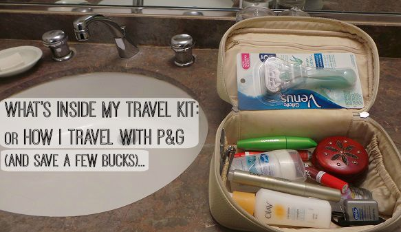 A peek inside my travel kit... What's on your must have list?