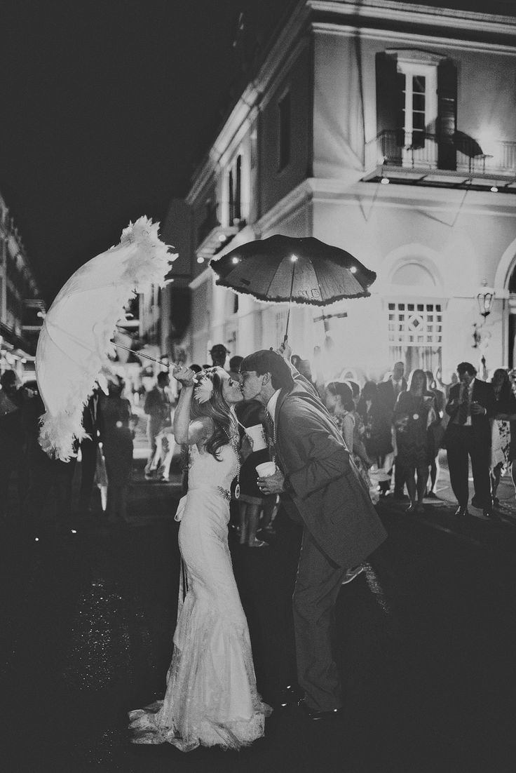 New Orleans Wedding Photography   Wedding in the french quarter / unique fun destination wedding  2nd line parade exit