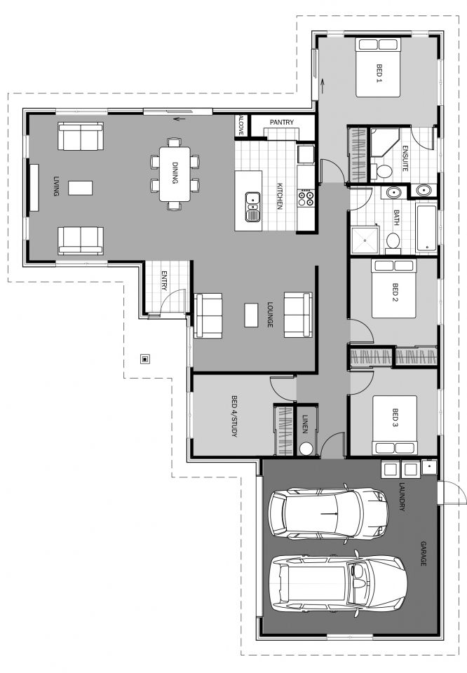 Futuna Floorplan 191m2 House Projects Architecture House Plans Modern House Floor Plans
