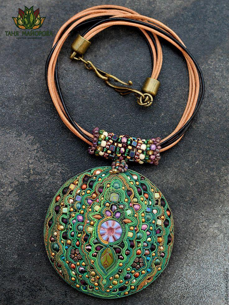 """Polymer clay pendant  #handmade #craft #design / Кулон из полимерной глины """"Моя лесная фея"""" — работа дня на Ярмарке Мастеров."""
