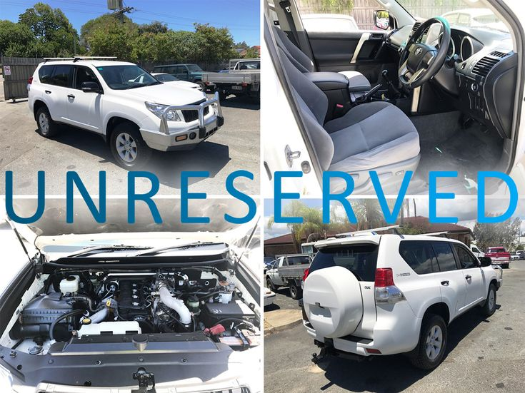 This 2010 Toyota Landcruiser Prado GX 150 Series is going UNRESERVED in the Used Car Auction TONIGHT at 7:00 pm!  Look online for the full list of cars going under the hammer -