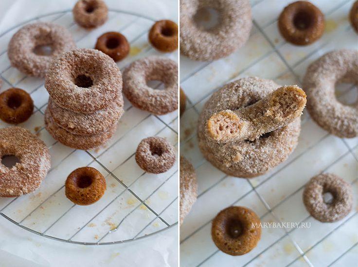 Коричные пончики с сахарной посыпкой   Mary Bakery