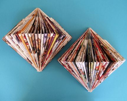 Made from old magazines.