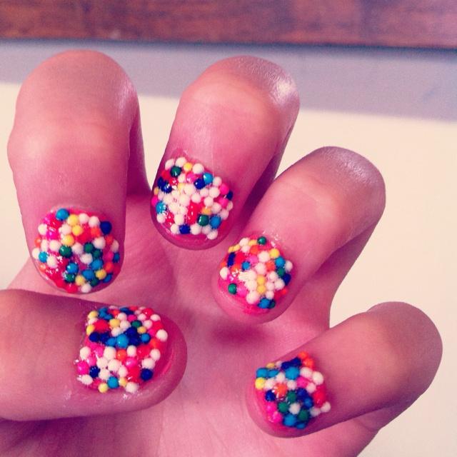 Sprinkle nailsSprinkles Nails Def, Nails Makeup, Nails Design, Worst Nails, Nailss, Nails Beautiful, Face Hair Nails, Nails 3
