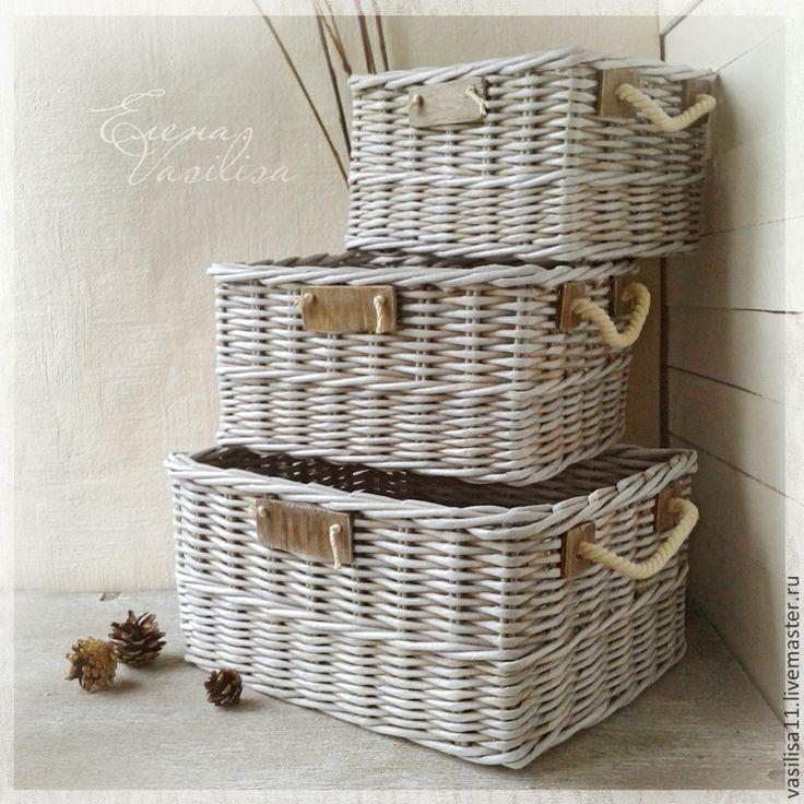 """Набор плетеных коробов """"Стиль"""" (3 шт.) - плетеные короба,корзинки,для хранения"""