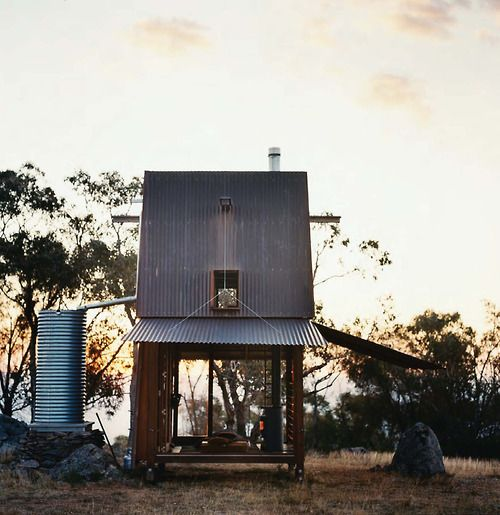 vogue living, the shed    Mikkel Vang: Rain Barrels, Casey Brown, Tiny Houses, Green Life, Mikkel Vang, South Wales, Small Houses, Vogue Living, Rustic Cabins