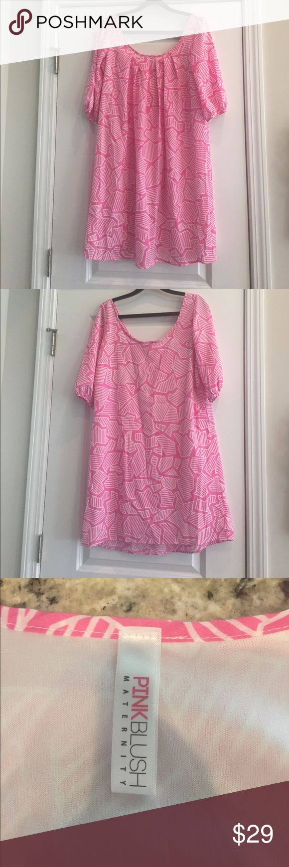 Maternity Dress Pink Blush Super cute! Use a thin belt to really accentuate your bump! Perfect for a baby shower! Pink Blush Dresses