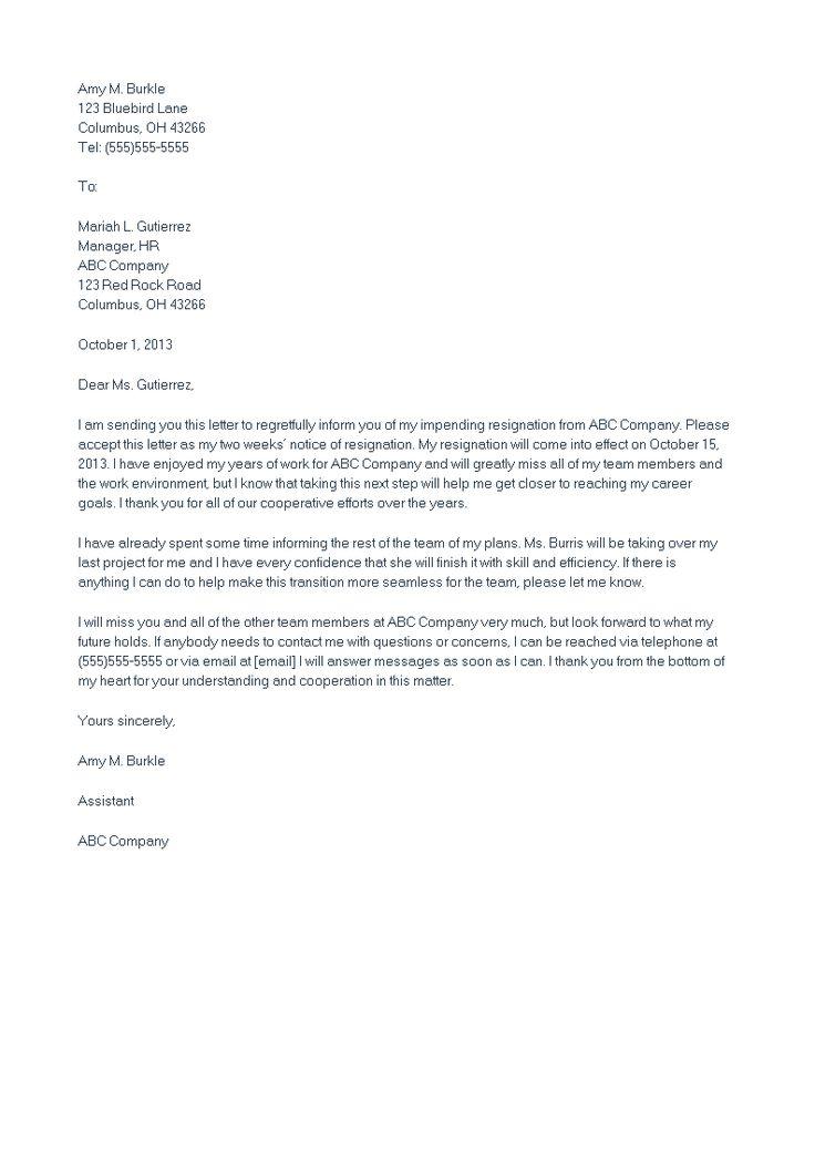 Sample Heartfelt Resignation Letter How to make a Sample