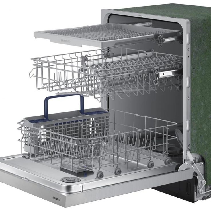 Samsung 24 In Front Control Dishwasher In Stainless Steel With Stainless Interior Door And 3rd Rack 51 Dba Dw80n3030us The Ho In 2020 Doors Interior Interior Doors
