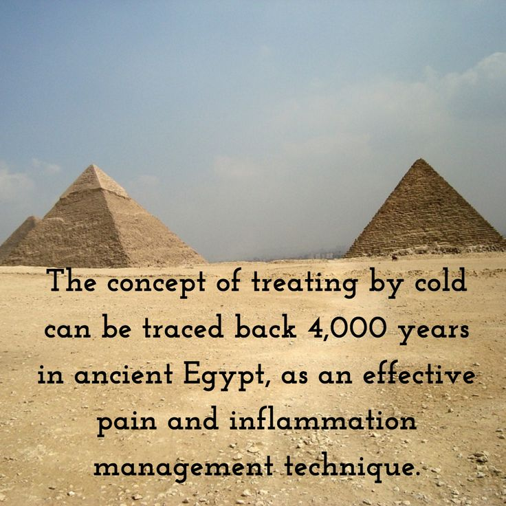 Cold therapy originated in the Egyptian desert. How do you do cold therapy? #sandiegocryotherapy #cryotherapy #cryotherapyhistory #egyptianhistory #painrelief #inflammationmanagement