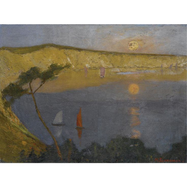 Michalis Economou  Greek, 1888-1933  ALONG THE SHORE