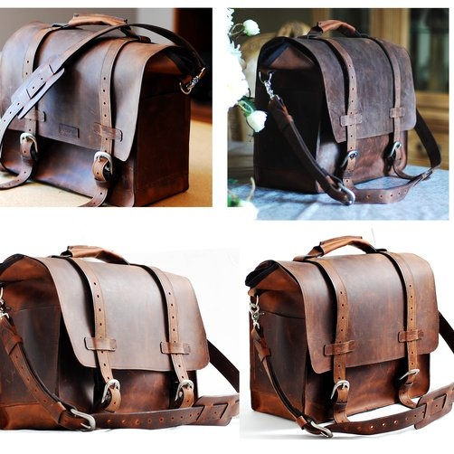 Custom Full grain Leather Bag - Vintage inspired