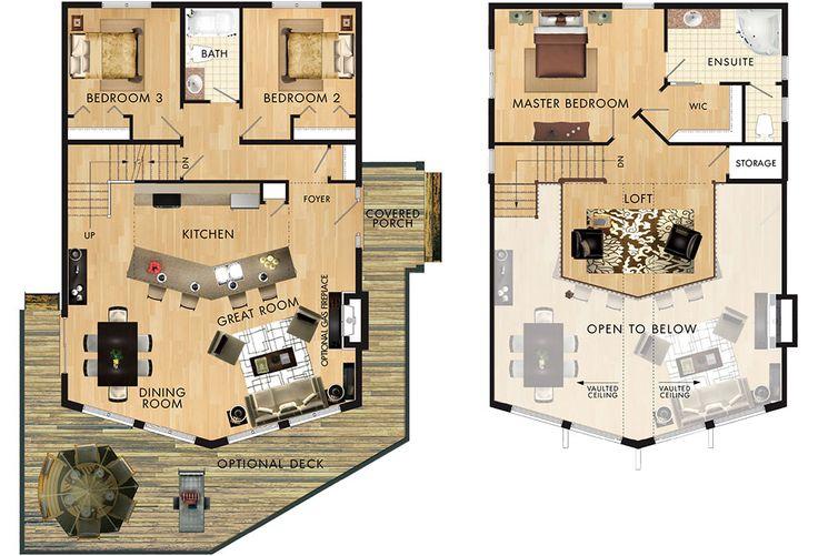 Ashland floor plan dream home pinterest decks cabin for Home hardware cabin plans
