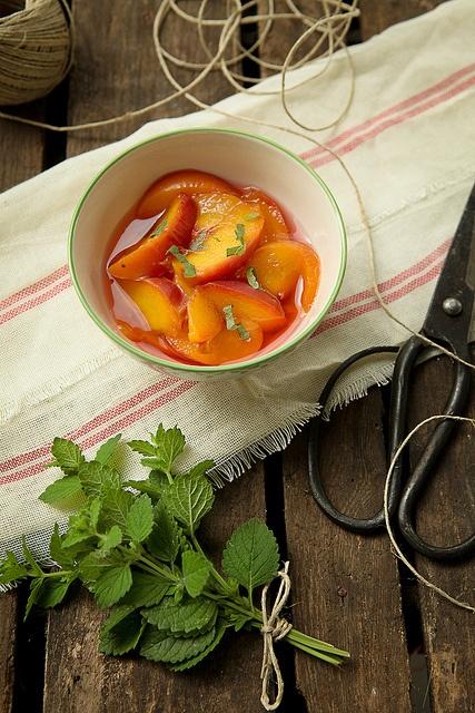 cava peaches and lemon balm by photo-copy, via Flickr