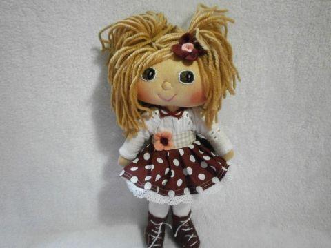 Juco55 - Dorka baba, Baba-mama-gyerek, Játék, Játékfigura, Plüssállat, rongyjáték, Dorka baba egy 27 cm magas kislány #doll