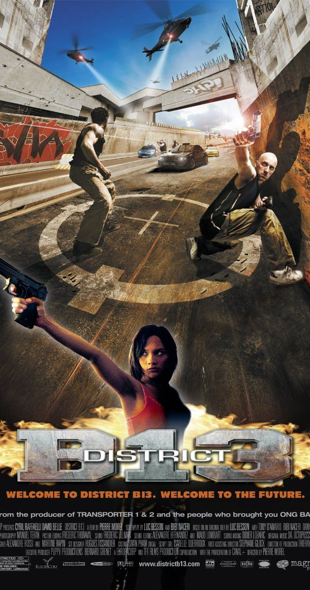 District B13 2004 District 13 Action Movies Movie Posters
