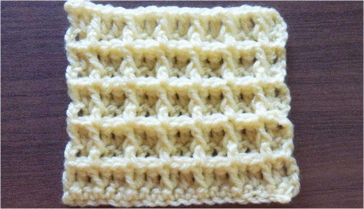 ワッフル編みの編み方【かぎ針編み】How to crochet waffle