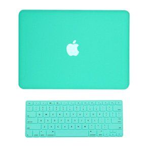 "Amazon.com: TopCase 2 in 1 Rubberized Robin Egg Blue Hard Case Cover and Keyboard Cover for Macbook White 13"" (A1342/Latest) with TopCase Mo..."