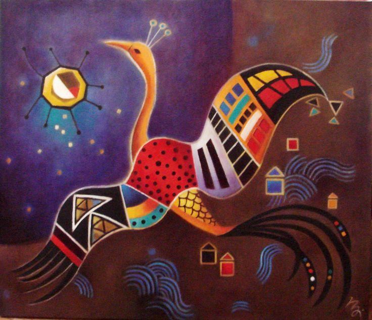 simurg,oil on canvas
