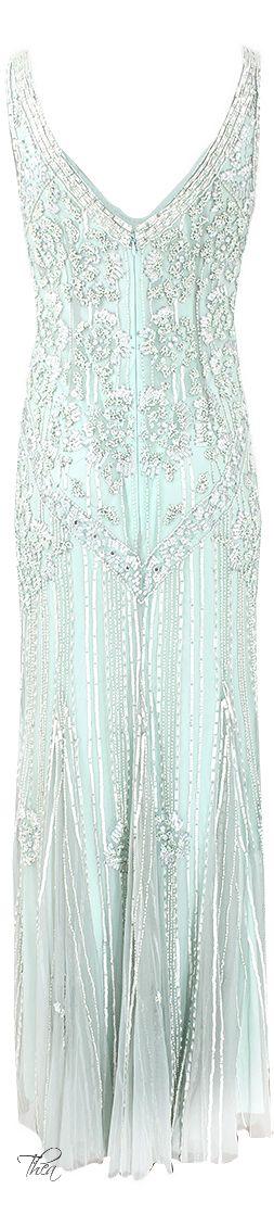 Theia ● 2014, Beaded Column Dress