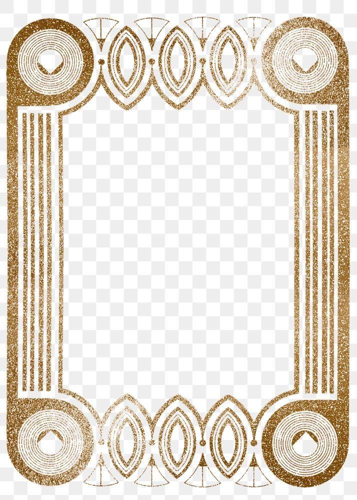 Download Premium Png Of Vintage Gold Glitter Frame Png Remix From Glitter Frame Frame Vintage Gold