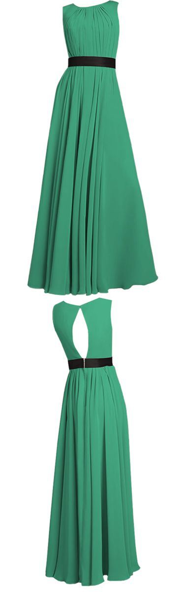Kelly green isn't my color, but I love the silhouette of this dress.
