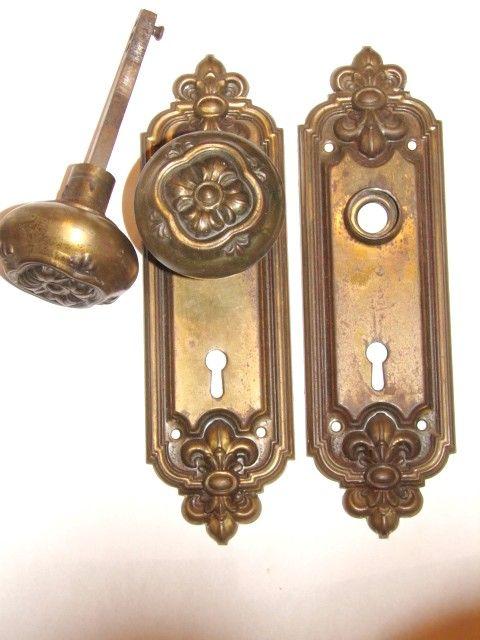 door knobs hardware antique restoration old original period doorknobs brass bronze cast iron parts victorian - Antique Door Hardware