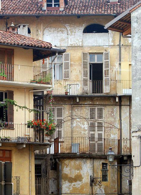Backstreet in Turin, Italy