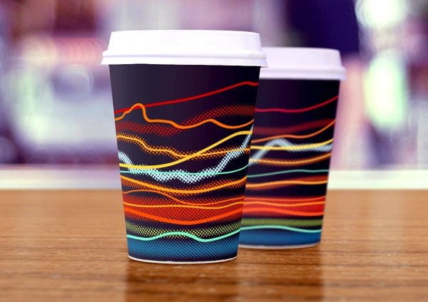 Lovely coffee cup design - Not sure I could throw these out after I've finished my coffee. La Strada identity concept