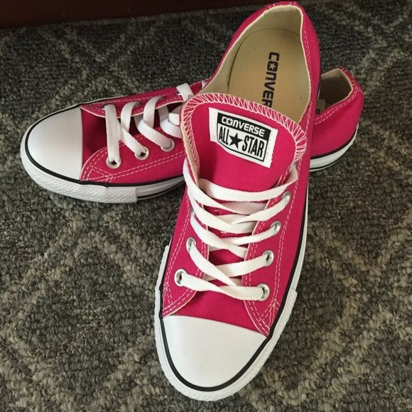 Pretty In Pink In These Converse All Star Shoes NWOT Brand New Hot Pink Converse All Star Shoes. US Size 8. ❌box not included❌ Converse Shoes