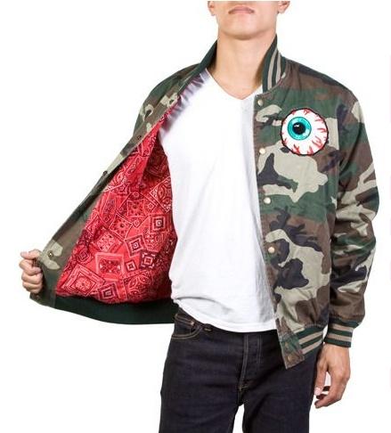 Mishka NYC Keep Watch Varsity Jacket Camo