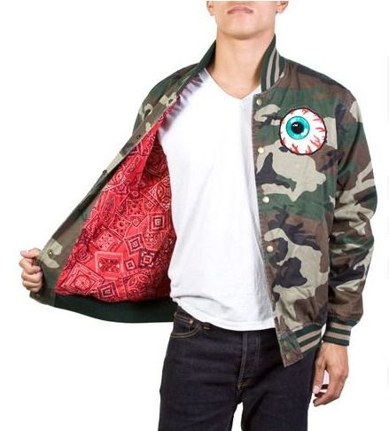 Mishka NYC Keep Watch Varsity Jacket Camo