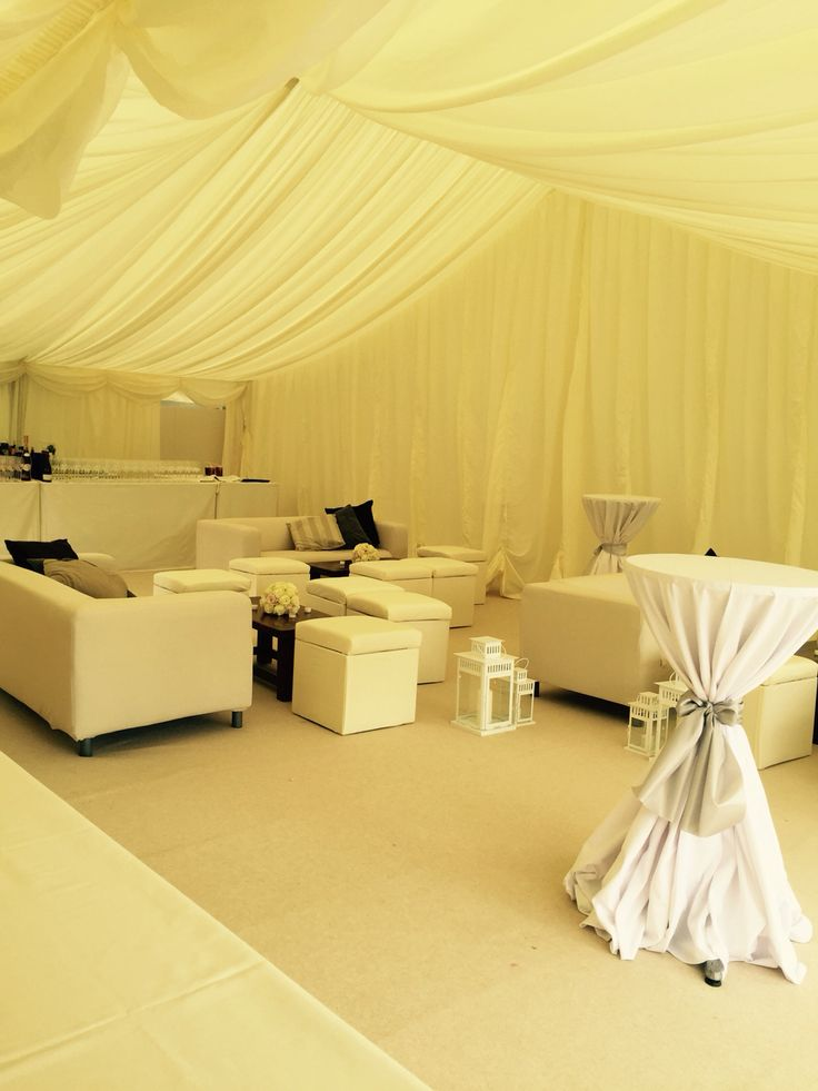 Chill out area in marquee