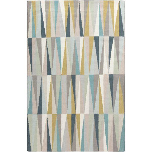 Hand Woven Torcy Flatweave Wool Rug (8u0027 X 11u0027) (Teal   (8u0027 X 11u0027)), Blue,  Size 8u0027 X 11u0027