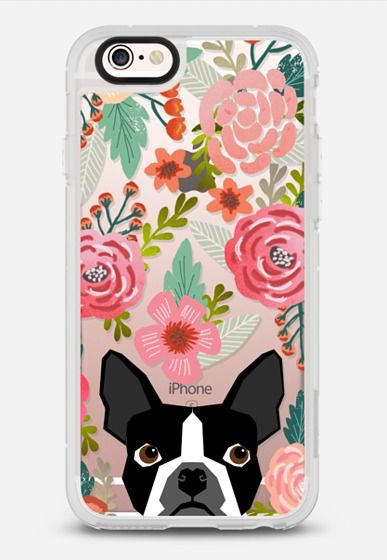 Boston Terrier Spring - vintage florals iphone6 case, boston terrier cell phone case, boston terrier spring flowers, vintage florals phone case, boston terrier cute phone case for trendy girl iPhone 6s case by Pet Friendly | Casetify