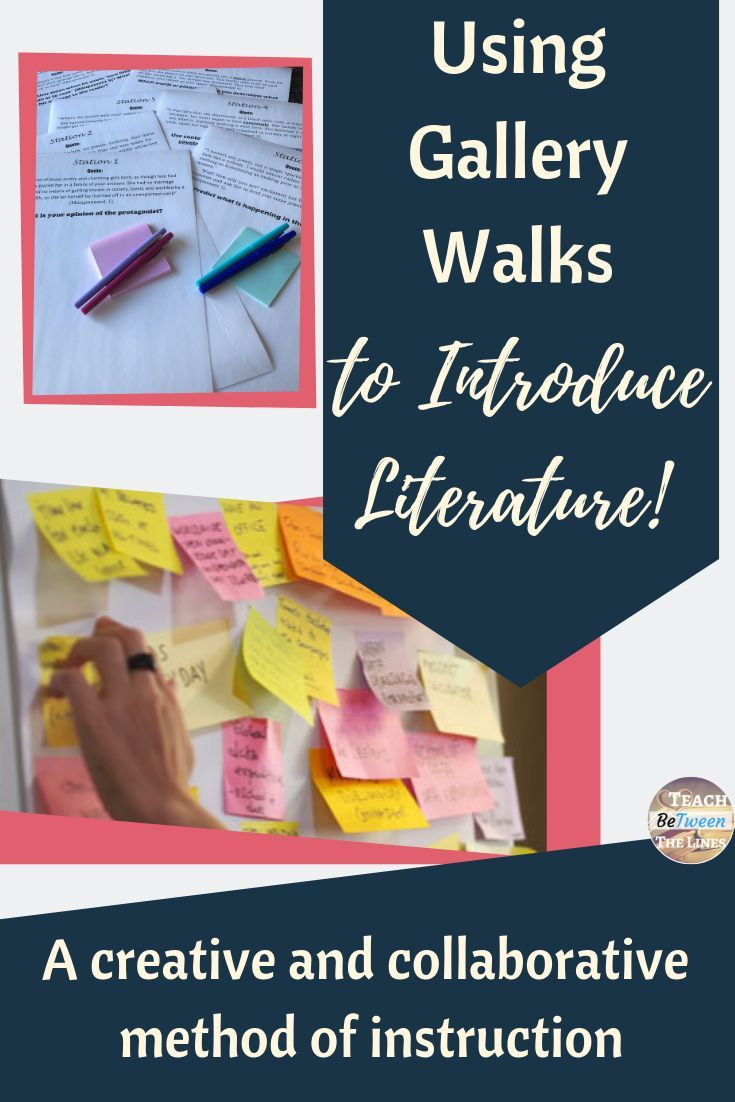 Using Gallery Walks to Introduce Literature | Crazy for the