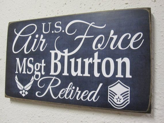 Air Force Retirement Sign  Military Retirement  by BornOnBonn