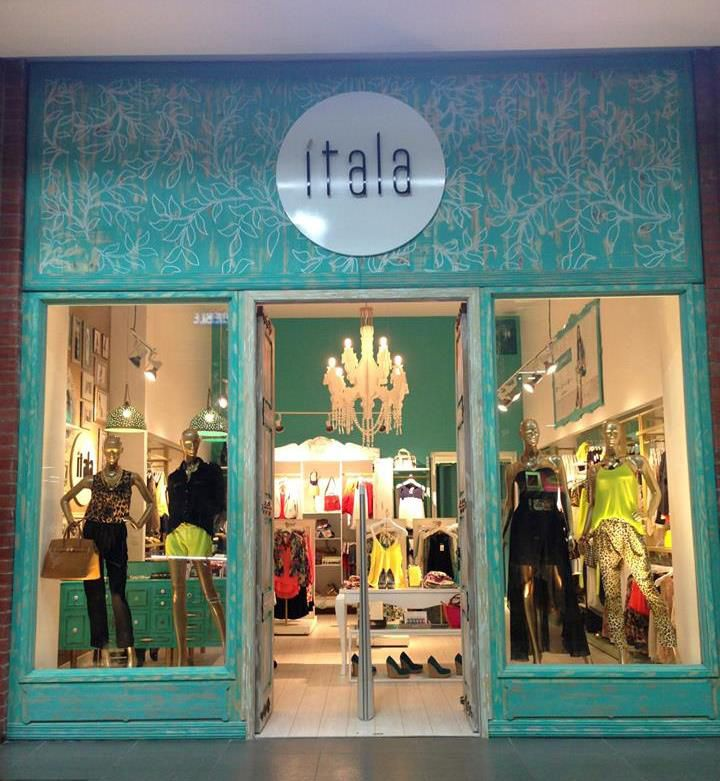 Восхитительный дизайн магазина модной одежды Itala