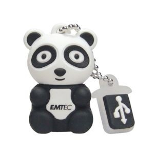 Pendrive 4GB USB2.0 Panda Emtec M310, the symbol for all protected species!, fast data transfer rate,
