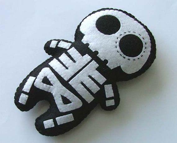 Día de la muñeca muerta esqueleto azúcar cráneo felpa por FeedDogz